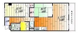 ナンノ第16号館[1階]の間取り