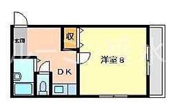 ルーキー東条[1階]の間取り