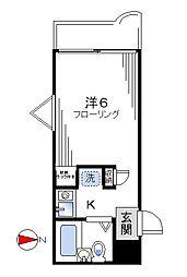 ドース北新宿[205号室]の間取り