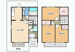 ファミール田井城[1階]の間取り