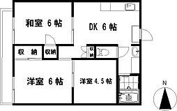 茅ヶ崎ドミール21[107号室]の間取り