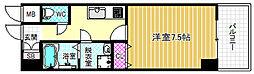 アスヴェル梅田WEST 9階1Kの間取り
