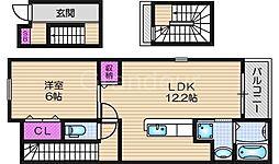 レジデンス門真南2[3階]の間取り