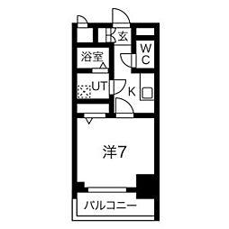 エスリード名古屋STATION WEST 5階1Kの間取り