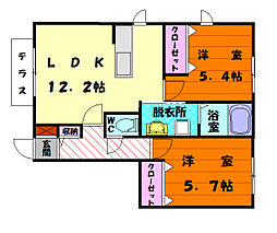 RESIDENCE DK[1階]の間取り