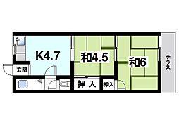 堀内アパート[1階]の間取り