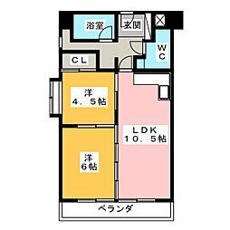 荘苑花の木[4階]の間取り