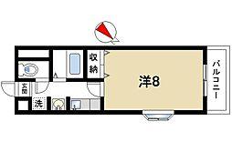 奈良県奈良市佐保台西町の賃貸マンションの間取り