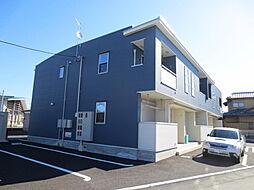 茨城県ひたちなか市大字田彦の賃貸アパートの外観