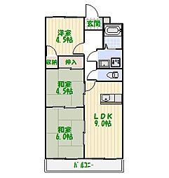 ケイハイツII[2階]の間取り
