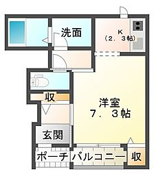 ボヌールTJ[1階]の間取り
