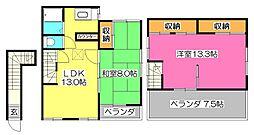 [一戸建] 東京都小平市学園東町2丁目 の賃貸【/】の間取り