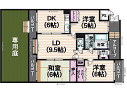 ローヤルマンション筑紫丘[1階]の間取り