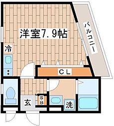 ワコーレヴィアーノSUMA須磨寺[201号室]の間取り