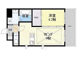 Osaka Metro御堂筋線 江坂駅 徒歩3分の賃貸マンション 7階1LDKの間取り