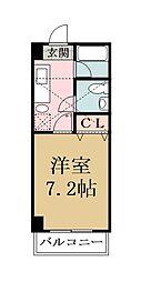 メゾン朋泉高砂[402号室]の間取り
