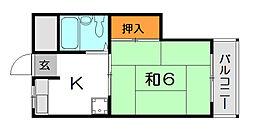 ウィズ新伊丹[5階]の間取り