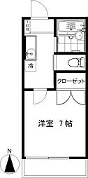 大木ハイム[203号室]の間取り