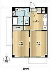 コートハイム横浜[2階]の間取り
