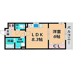 Osaka Metro長堀鶴見緑地線 今福鶴見駅 徒歩3分の賃貸アパート 1階1LDKの間取り