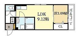 D-room三山木 1階1LDKの間取り