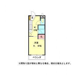 愛知県一宮市伝法寺5丁目の賃貸マンションの間取り