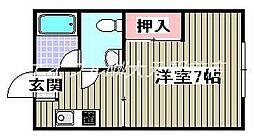 若草コーポ[1階]の間取り