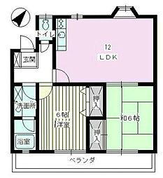サンパーク浅間台[205号室]の間取り
