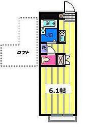埼玉県さいたま市北区北区吉野町1丁目の賃貸アパートの間取り