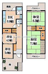 [一戸建] 大阪府大東市北条4丁目 の賃貸【/】の間取り