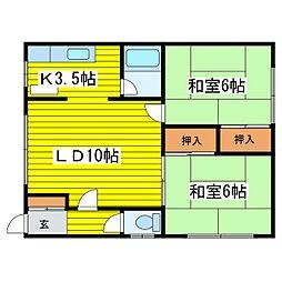 北海道札幌市東区北二十八条東8丁目の賃貸アパートの間取り