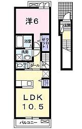 [大東建託]シャトレ シエルIII[2階]の間取り