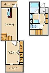 兵庫県尼崎市塚口本町2丁目の賃貸マンションの間取り