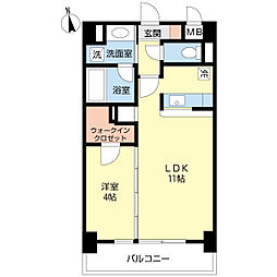 新潟県新潟市中央区本町通7番町の賃貸マンションの間取り