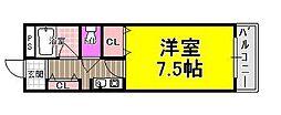 アドバンス阪南[6階]の間取り