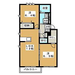 セカンドステージリアン京都[2階]の間取り