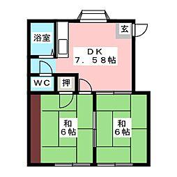 メゾン田原[1階]の間取り