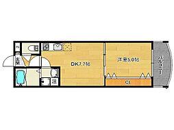 プルメリア御池[2階]の間取り