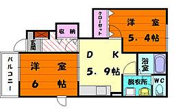 エトワール7[1階]の間取り