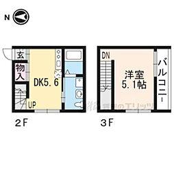 プライベートレジデンス御所西 2階1DKの間取り