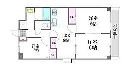 三篠北パークマンション[7階]の間取り