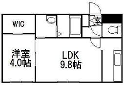 ワールドパレス札幌中央[302号室]の間取り