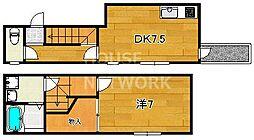 アルカス千本通(旧ドーリア千本通)[2-B号室号室]の間取り