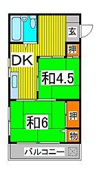 第2三井マンション[4階]の間取り