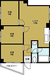 大黒マンション[2階]の間取り