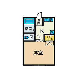 福寿荘[1階]の間取り