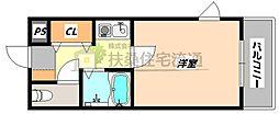 大阪府大阪市北区同心1丁目の賃貸マンションの間取り