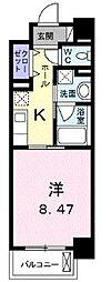 高松琴平電気鉄道琴平線 栗林公園駅 徒歩8分の賃貸マンション 4階1Kの間取り