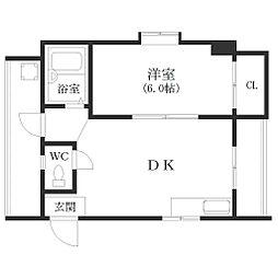 大阪府大阪市西成区橘2の賃貸マンションの間取り