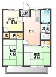 ホワイトハイツ[2階]の間取り